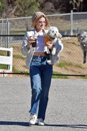 Lucy Hale at a Dog Park in Los Angeles 2018/12/08 4
