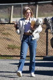 Lucy Hale at a Dog Park in Los Angeles 2018/12/08 9