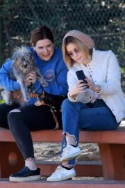 Lucy Hale at a Dog Park in Los Angeles 2018/12/08 14