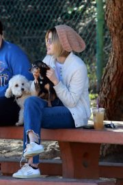 Lucy Hale at a Dog Park in Los Angeles 2018/12/08 15