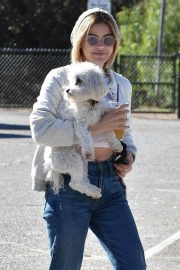 Lucy Hale at a Dog Park in Los Angeles 2018/12/08 16