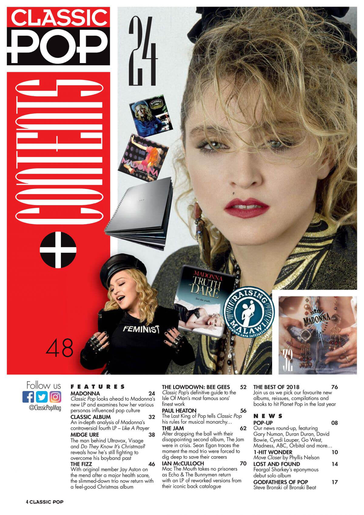 Madonna in Classic Pop Magazine, January 2019 1