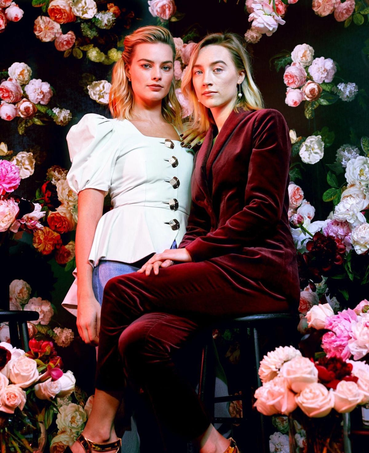Margot Robbie and Saoirse Ronan for New York Times, December 2018 1