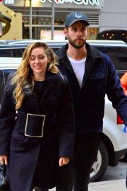 Miley Cyrus and Liam Hemsworth Arrives at NBC Studios in New York 2018/12/15 5