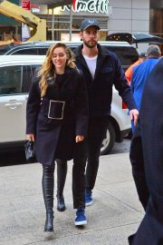 Miley Cyrus and Liam Hemsworth Arrives at NBC Studios in New York 2018/12/15 6