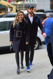Miley Cyrus and Liam Hemsworth Arrives at NBC Studios in New York 2018/12/15 7