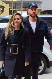 Miley Cyrus and Liam Hemsworth Arrives at NBC Studios in New York 2018/12/15 8