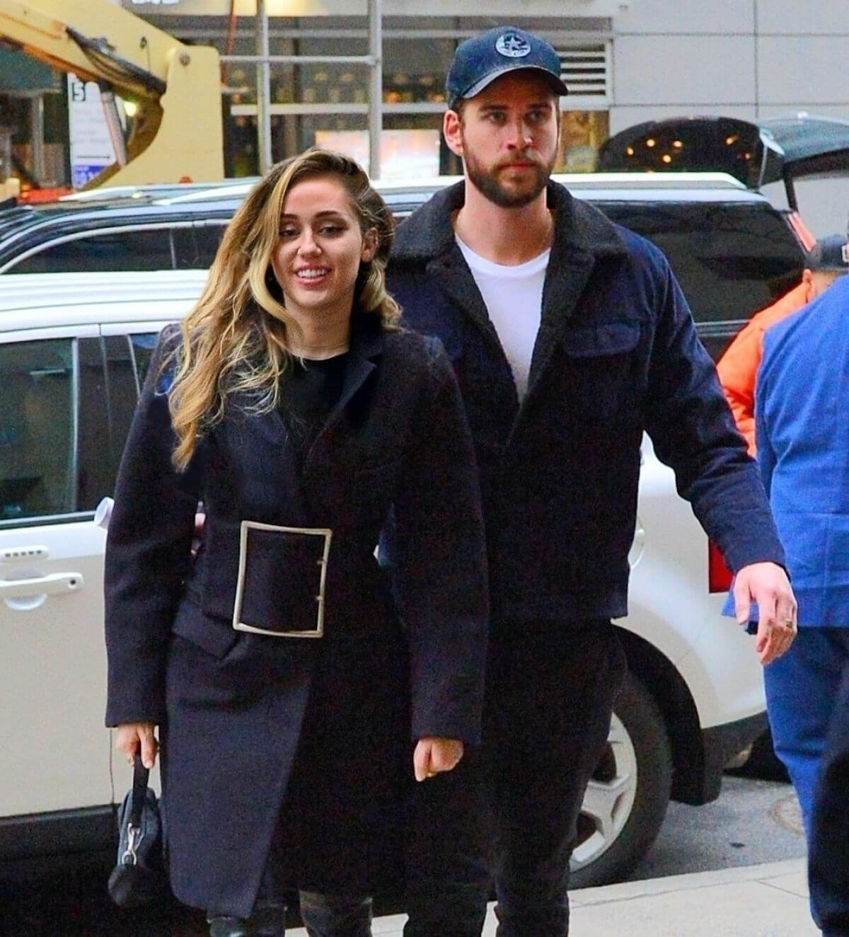 Miley Cyrus and Liam Hemsworth Arrives at NBC Studios in New York 2018/12/15