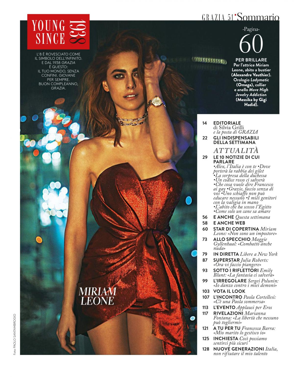Miriam Leone in Grazia Magazine, Italy December 2018 1