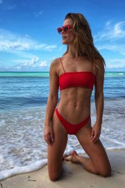 Nina Agdal in Bikini at a Beach on Instagram Pictures, December 2018 3