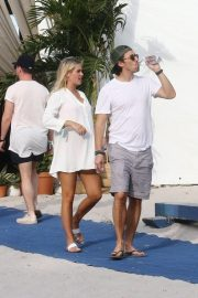 Pregnant Claire Holt and Andrew Joblon Out in Miami 2018/12/08 1