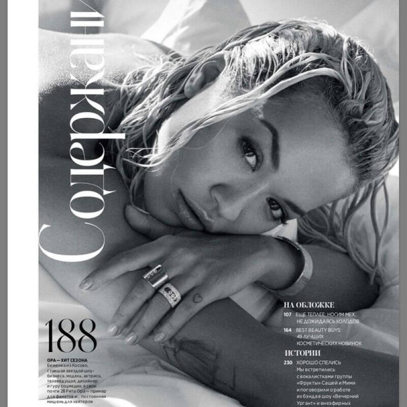 Rita Ora in Instyle Magazine, Russia November 2018 1