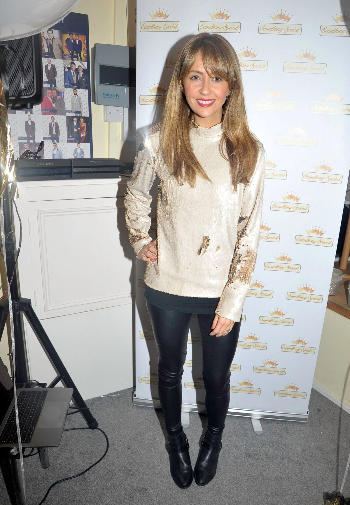 Samia Longchambon at Something Special Boutique Birthday Party in Blackpool 2018/12/01 1