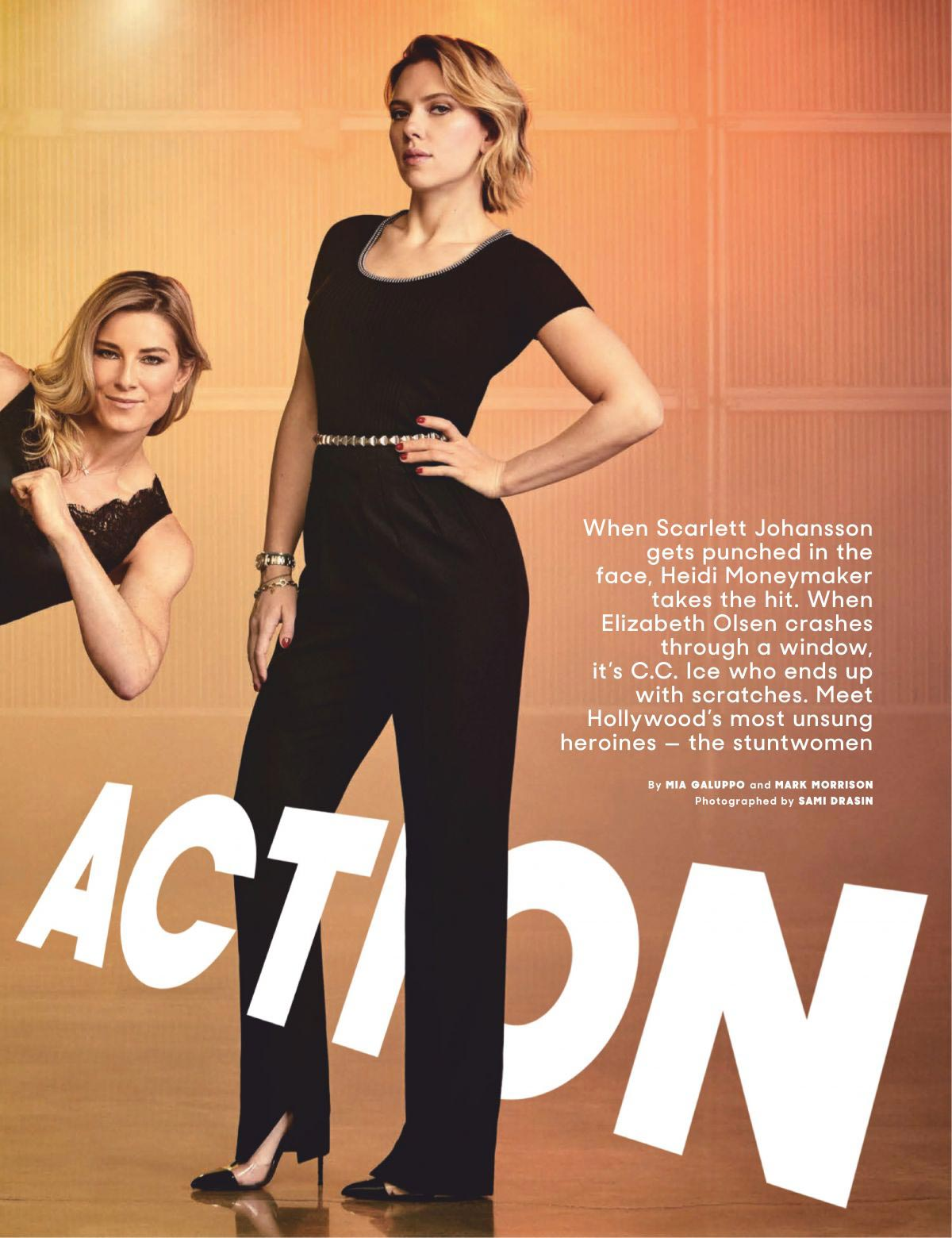 Scarlett Johansson and Heidi Moneymaker in The Hollywood Reporter Magazine, December 2018 1