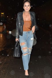 Vicky Pattison in Ripped Jeans Night Out in Newcastle 2018/12/15 2