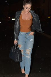 Vicky Pattison in Ripped Jeans Night Out in Newcastle 2018/12/15 10