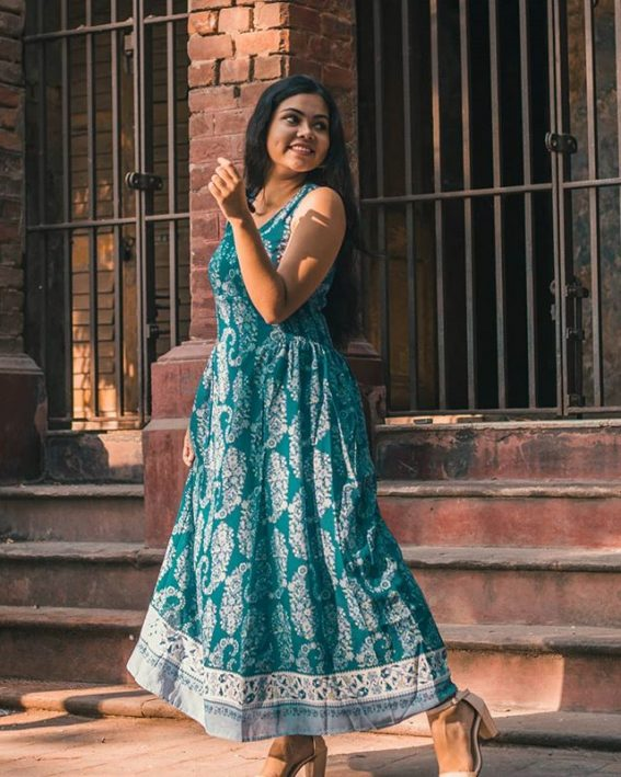 Ahana Dutta in Blue Dress Photoshoot - Instagram Picture 2018/11/12 1