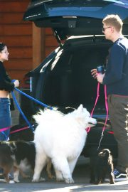 Ariel Winter and Levi Meaden Out with Their Dogs in Los Angeles 2018/12/30 2