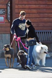 Ariel Winter and Levi Meaden Out with Their Dogs in Los Angeles 2018/12/30 8