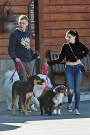 Ariel Winter and Levi Meaden Out with Their Dogs in Los Angeles 2018/12/30 10