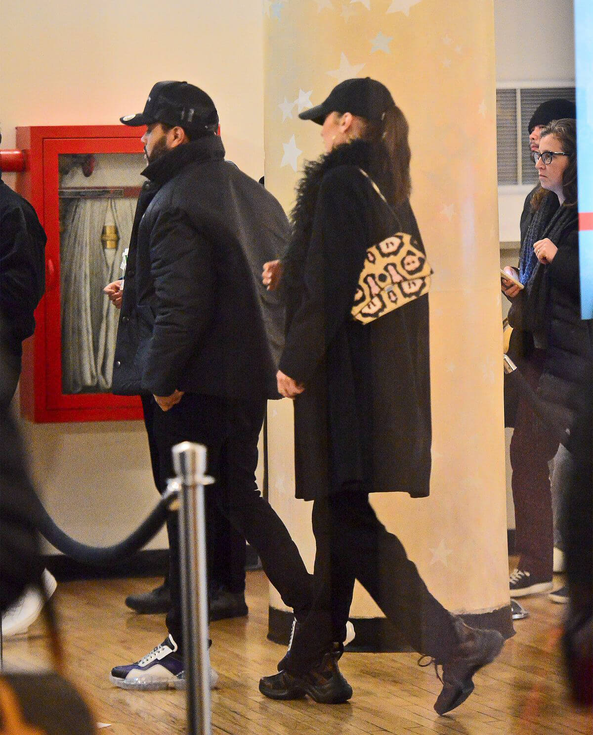 Bella Hadid and The Weeknd at Movie Theatre in New York 2018/12/30 1
