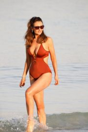 Catherine Tyldesley in Swimsuit at a Beach in Dubai 2018/12/30 2