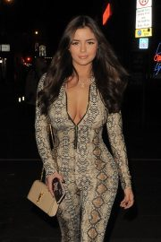 Demi Rose Mawby Night Out in London 2018/12/30 10
