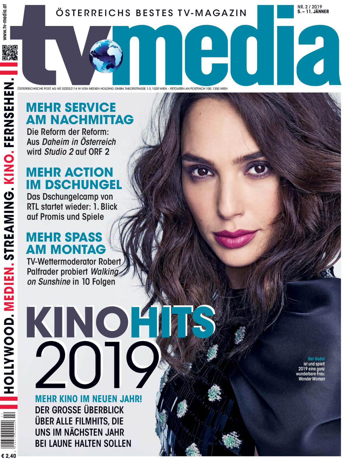 Gal Gadot on the Cover of TV Media Magazine, January 2019 1