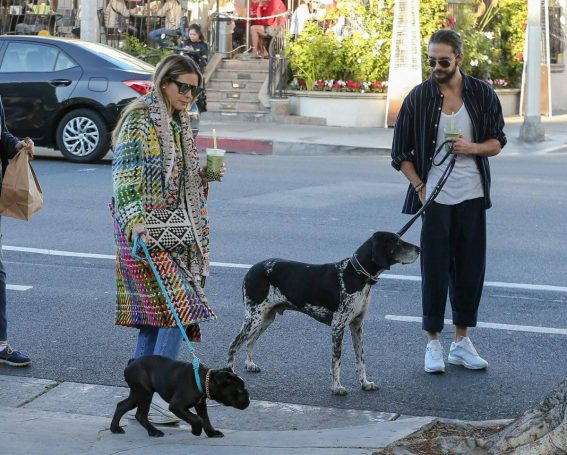 Heidi Klum and Tom Kaulitz Out with Their Dog in Los Angeles 2018/12/31 1
