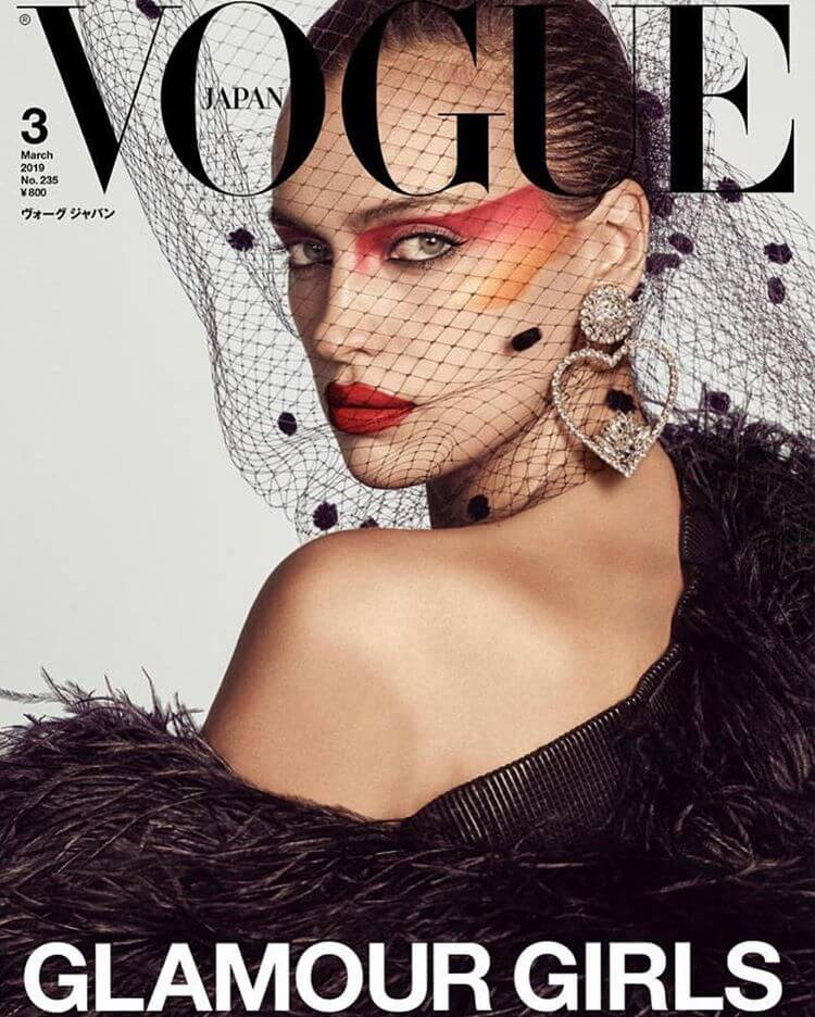 Irina Shayk for Vogue Japan Magazine Cover Photoshoot, March 2019 Issue 1