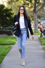 Jessica Gomes in Ripped Denim Out in Los Angeles 2018/12/21 3