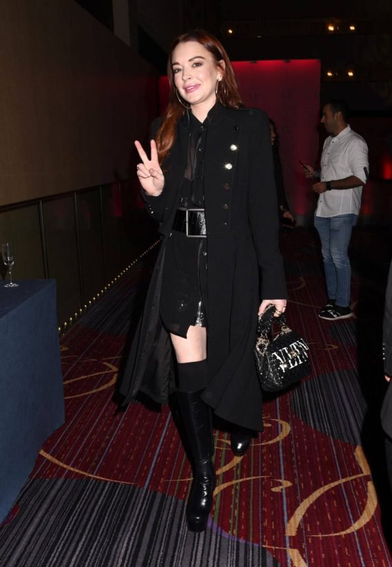 Lindsay Lohan at Marquis New Year's Eve in New York 2018/12/31 1