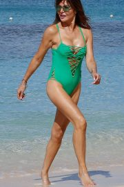 Lizzie Cundy in Swimsuit at a Beach in Barbados 2018/12/29 6