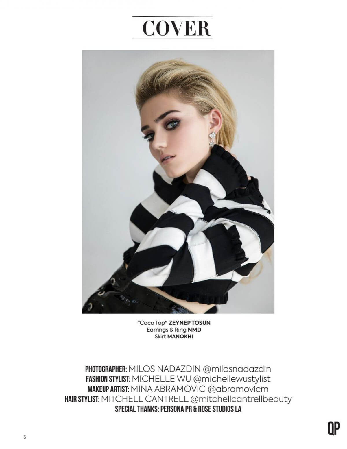 Meg Donnelly in QP Magazine, December 2018 1