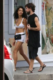 Raven lyn and Jack Dorsey Out Shopping in St Barth 2018/12/30 3