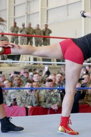 Ronda Rousey & Natalya vs. Nia Jax & Tamina vs. Liv Morgan & Sarah Logan - WWE Tribute to the Troops 2018/12/20 9