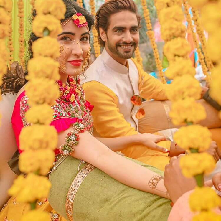 Sheena Bajaj and Rohit Purohit shared Wedding Celebrations: Haldi & Mehandi Ceremony 1