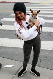 VANESSA MORGAN Out with Her Dog in Los Angeles 2019/01/05 3