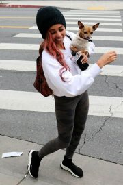 VANESSA MORGAN Out with Her Dog in Los Angeles 2019/01/05 6