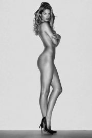 Dutch Supermodel Doutzen Kroes Nude Black & White Photoshoot - February 13, 2019 1