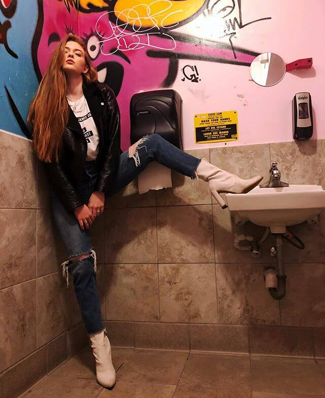 Larsen Thompson photoshoot in the bathroom at Los Angeles, California - February 01, 2019 1