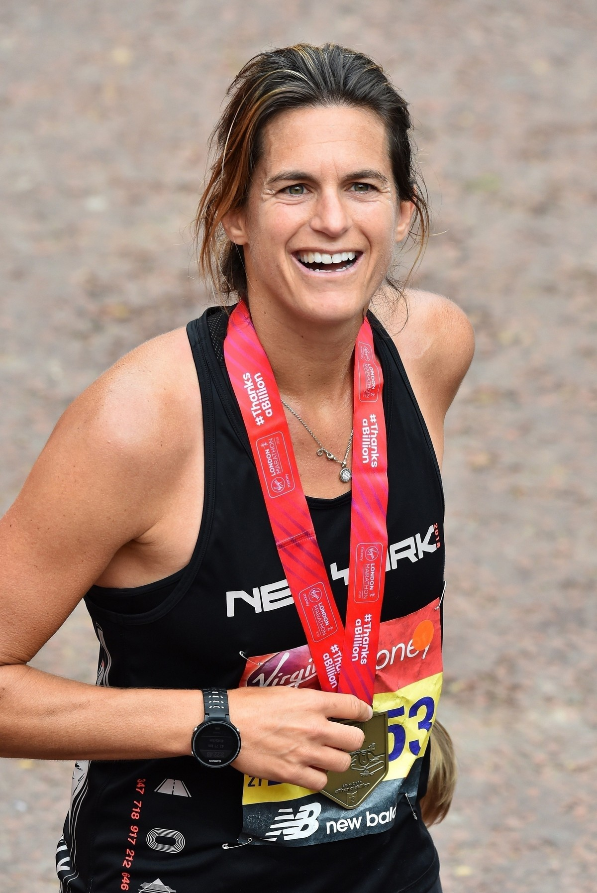 Amelie Mauresmo at The London Marathon Finish Line 2019/04/28 1