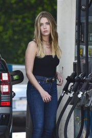 ASHLEY BENSON at a Gas Station in Los Angeles 2019/04/26 13