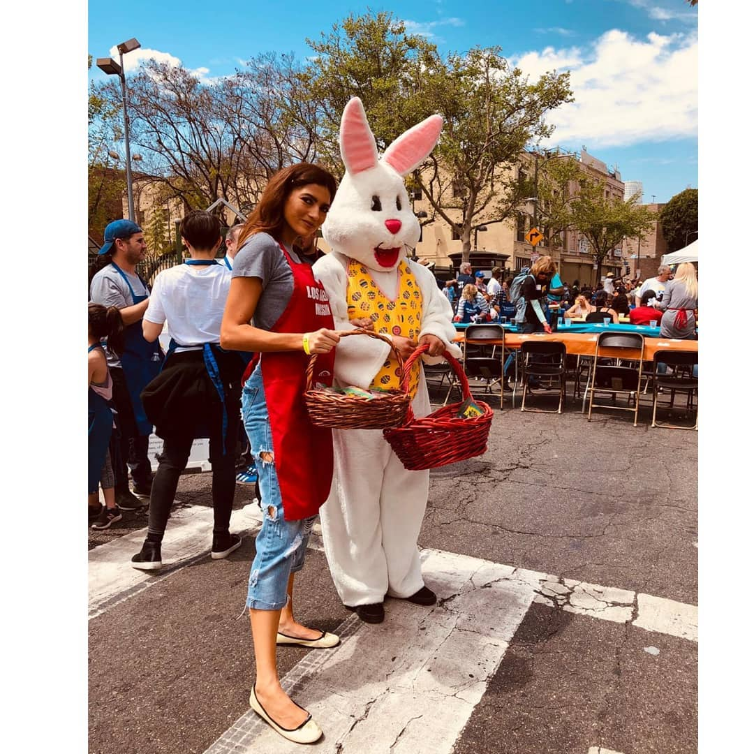 Blanca Blanco Attends Los Angeles Mission Easter Celebration on April 20, 2019 1
