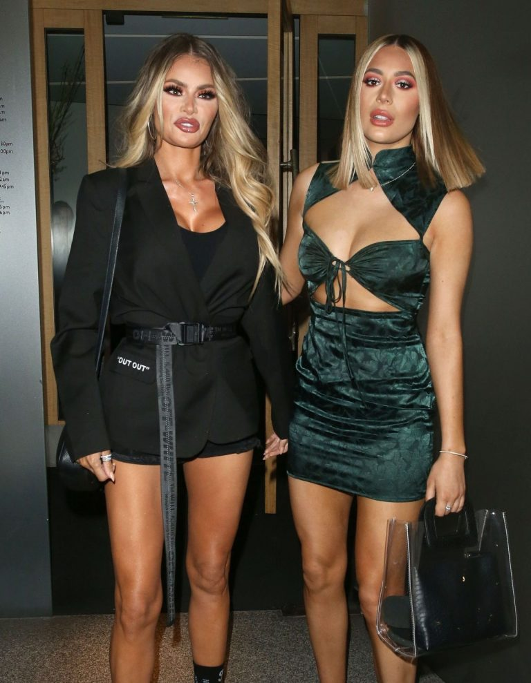 Chloe Sims and Demi Sims at Nobu Restaurant in London 2019/04/20 1