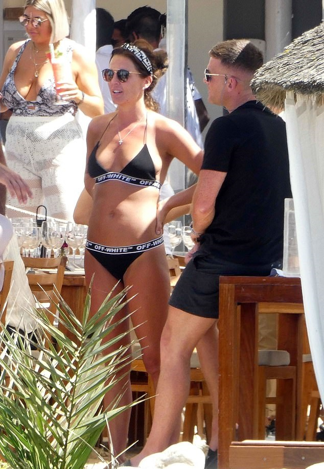 Danielle Lloyd Enjoys Sunny Ibiza Holiday In Black Triangle Bikini After Dubai Wedding With Husband Michael O'Neill 1