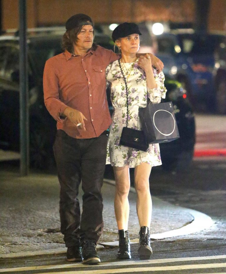 Diane Kruger and Norman Reedus Out for Dinner in New York 2019/04/25 1