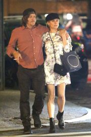 Diane Kruger and Norman Reedus Out for Dinner in New York 2019/04/25 2