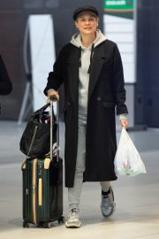 Diane Kruger Arrives at JFK Airport with her mother in New York 2019/04/29 2