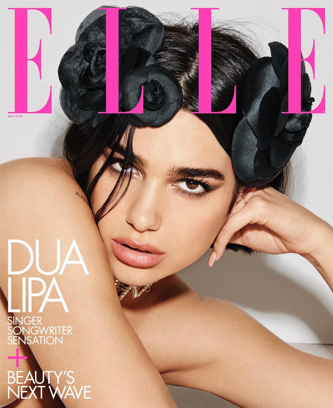 Dua Lipa On Cover Page Of Elle US - May 2019 1